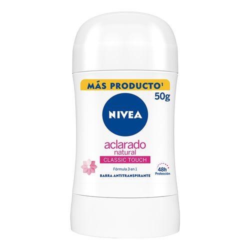 Desodorante en barra aclarante natural
