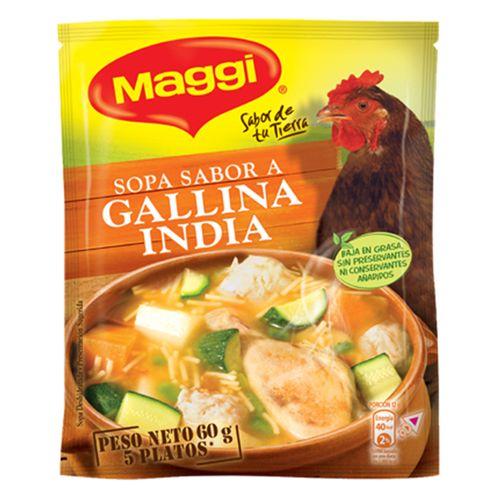 Sopa criolla de gallina india