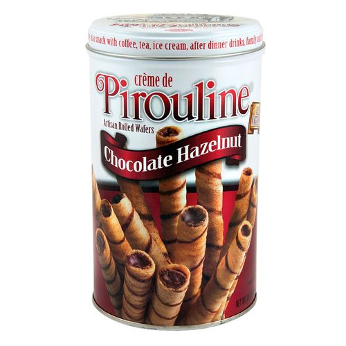 Barquillo avellanas de chocolate