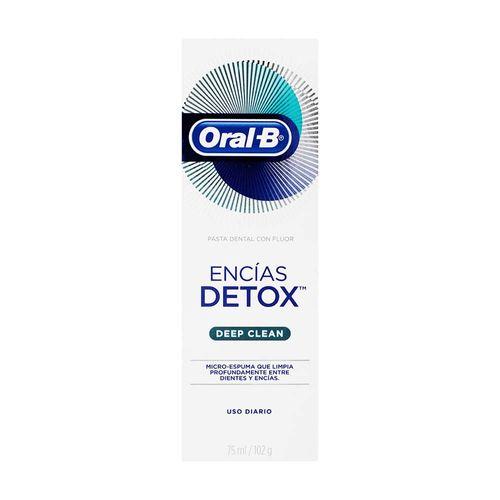 Pasta dental oral B detox limpieza profunda