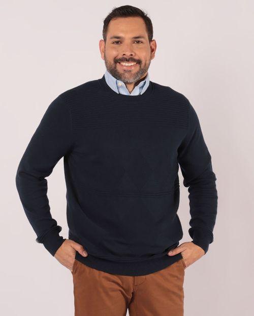 Suéter cuello redondo