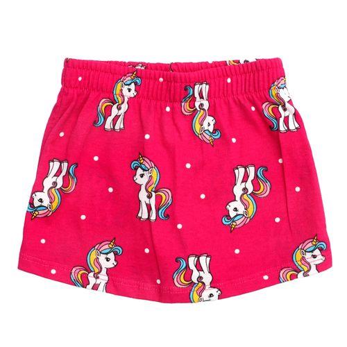 Falda short estampada para niña