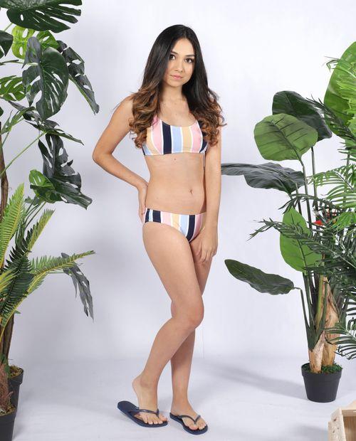 Bikini dos piezas rayado
