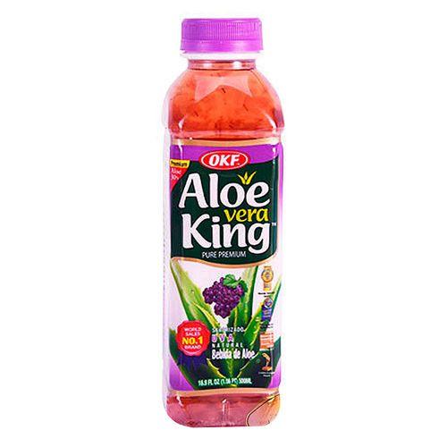 Bebida de aloe vera uva