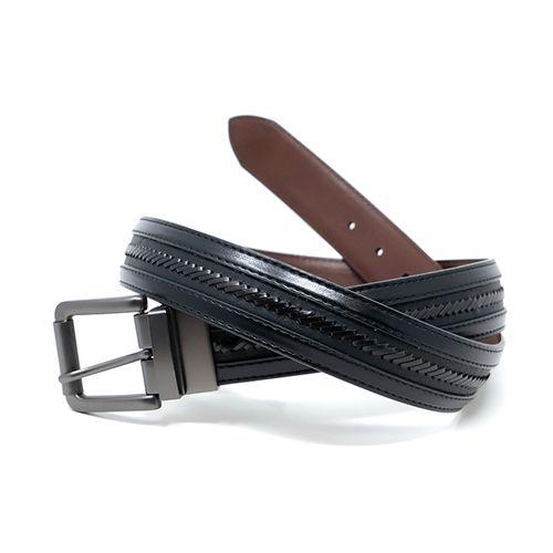 Cincho trenzado reversible black/brown