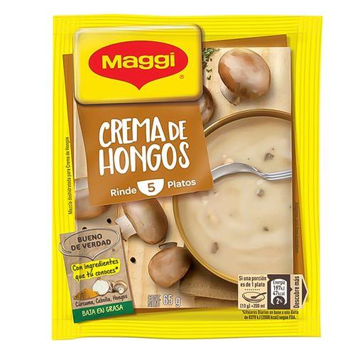 Crema de hongos en sobre