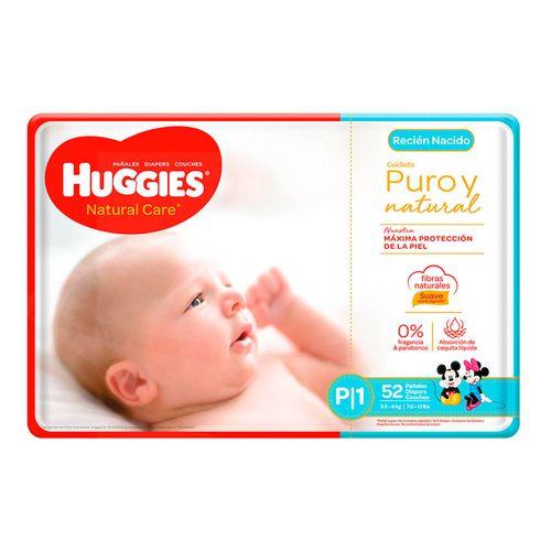 Pañales Huggies Natural Care - recién nacidos