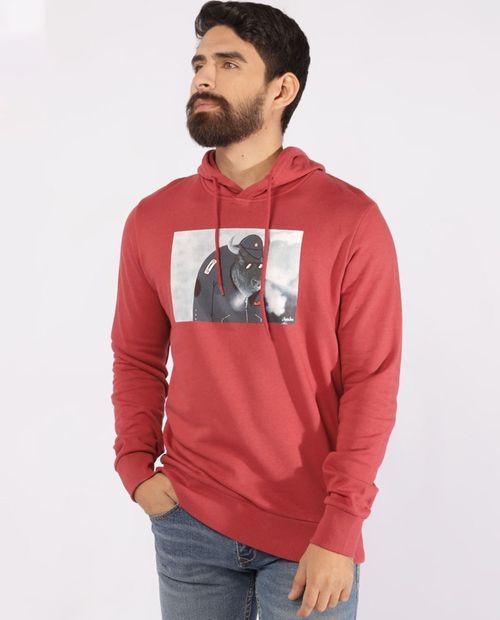 Suéter estampado brick