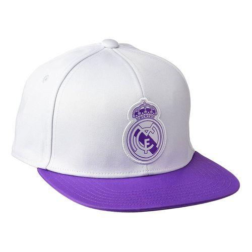 Gorra real madrid football blanco y lila osfm