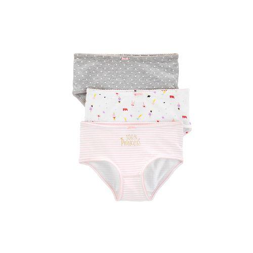 3pk panties de colores pasteles princess para niña