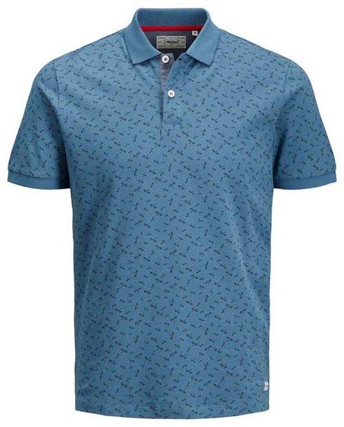 Camisa tipo polo azul