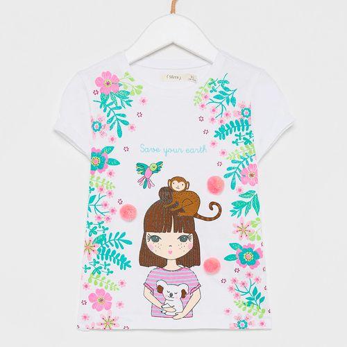 Blusa estampada para niña