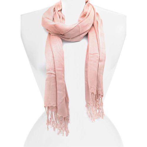 Bufanda dusty pink pashmina con fringe