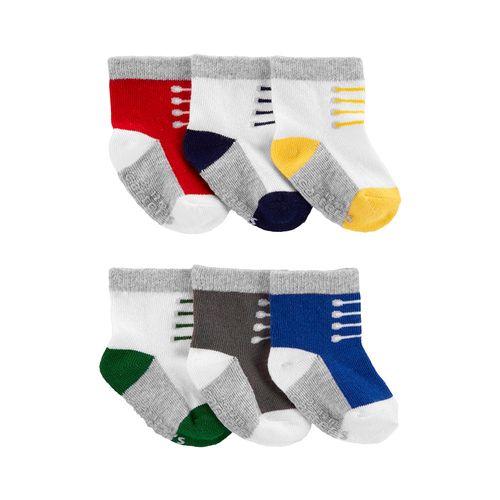 6pk calcetines de colores de zapatitos para bebé niño