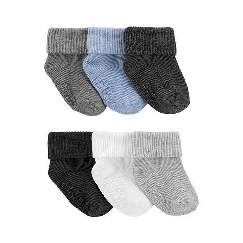 6pk calcetines azules grises celestes para bebé niño
