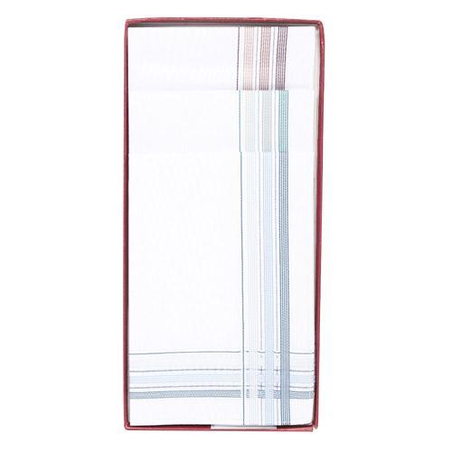 Caja de pañuelo blanco/color 3 pack