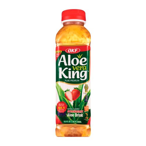 Bebida de aloe vera fresa