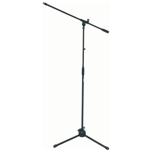 Atril para micrófono con boom negro