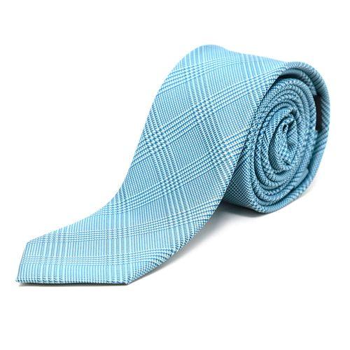 Corbata cuadros 6cm tie aqua