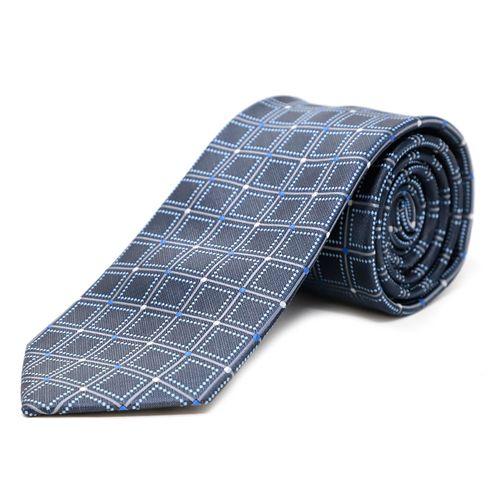 Corbata cuadros 8cm tie navy