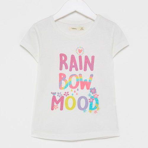 """Blusa m/c blanca """"rainbow mood"""""""