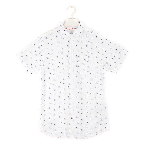 Camisa - con mangas / hombre wov co100 cloud dancer xs fit:slim