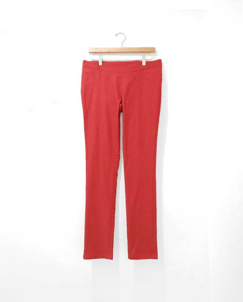 Pantalon pull on  maternal red