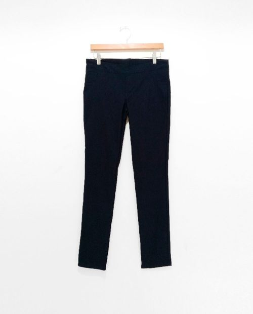 Pantalon pull on panza solido navy