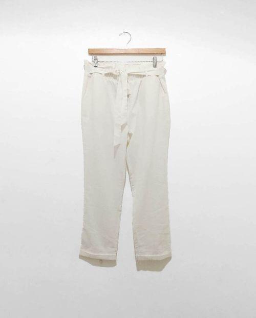 Pantalon ivory con nudo