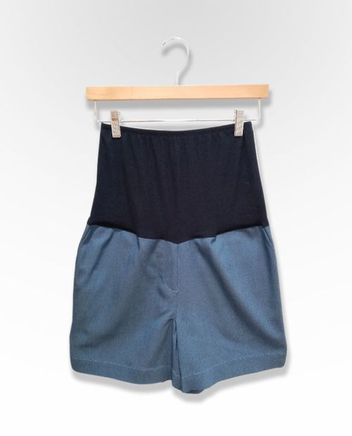 Short chambray dama