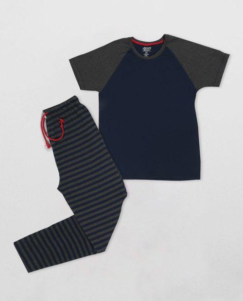Pijama caballero camisa manga corta con pantalon surtido