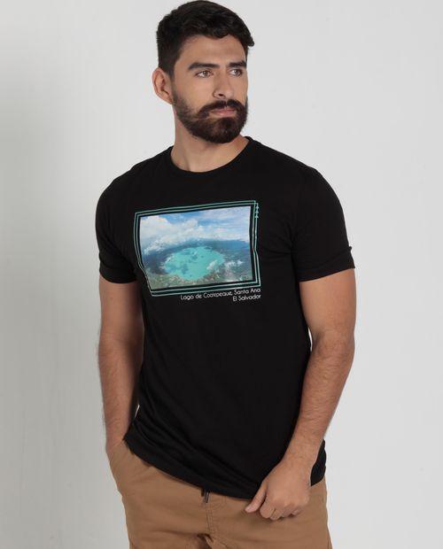 Camiseta estampa coatepeque borde tq