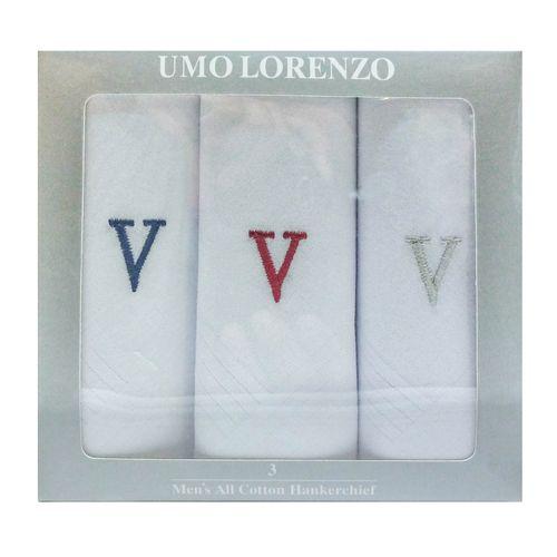 3pk pañuelos algodón con letra v