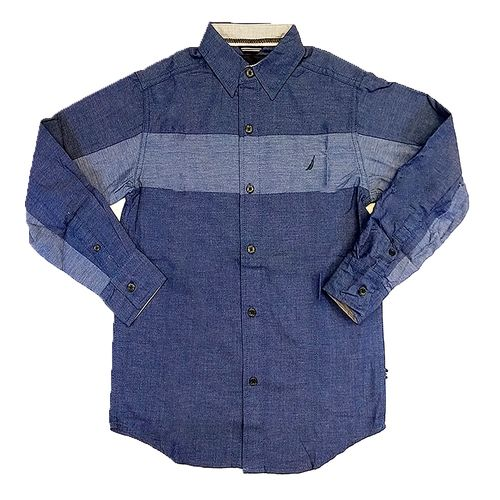 Camisa m/l de niño twilight blue 439