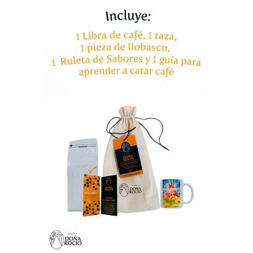Bolsa combo de café 1 lb + taza - carrera de cinta
