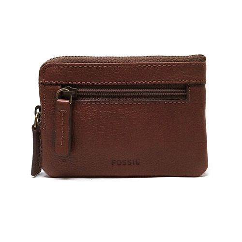 Billetera de cuero nigel zip cn case cognac