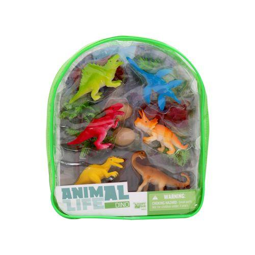 6 dinosaurios con accesorios
