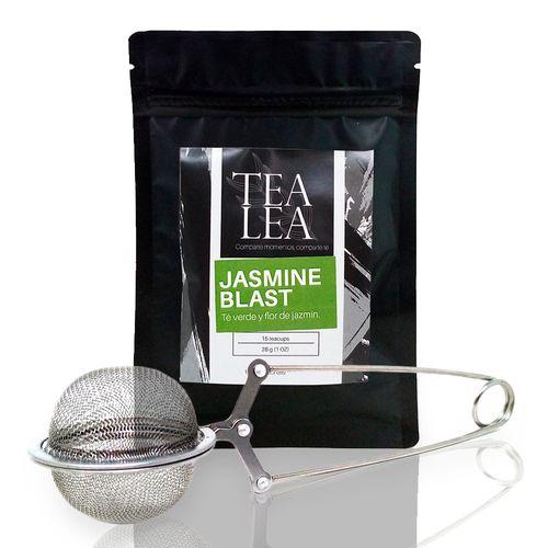 Kit moderna jasmine blast infusor + 1 oz de te en hoja suelta