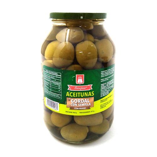 Aceituna verde gordal con hueso 24/24 onz