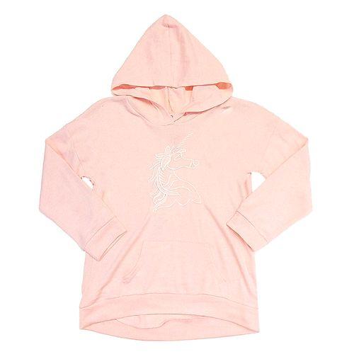 Blusa m/l rosada unicornio c hoodie blush pink