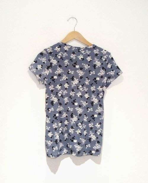 Blusa knit nudo maternal lt blue