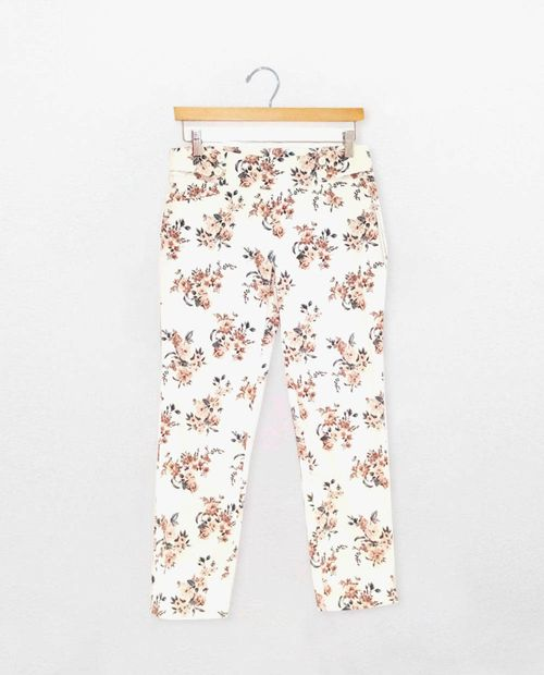 Pants wiht bouttons color cream/blush