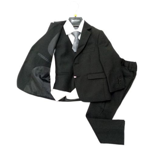 Traje formal 5 piezas negro blk 7