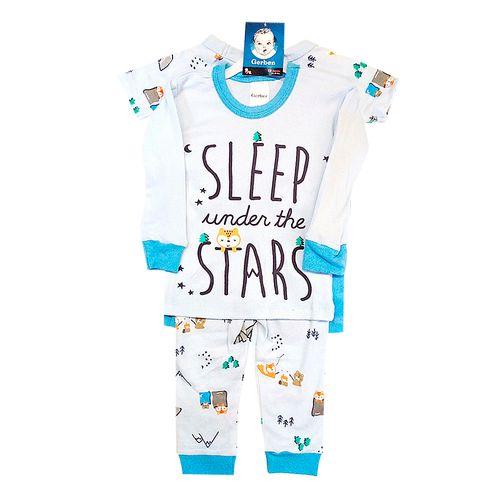4 piezas pijamas camping