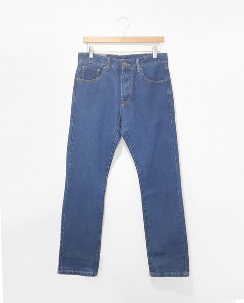 Jeans azul medio sin stretch