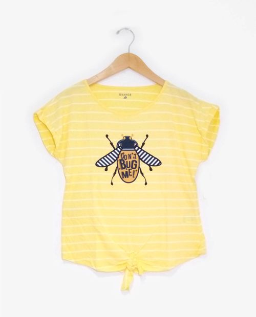 Camiseta prt don't bug me  d31 rayas yellow/white
