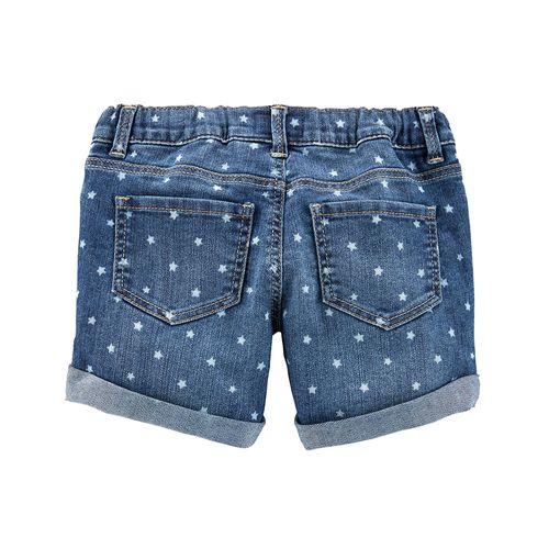 Short azul con estampado de estrellitas