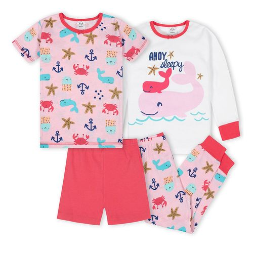 4 piezas pijamas ballena