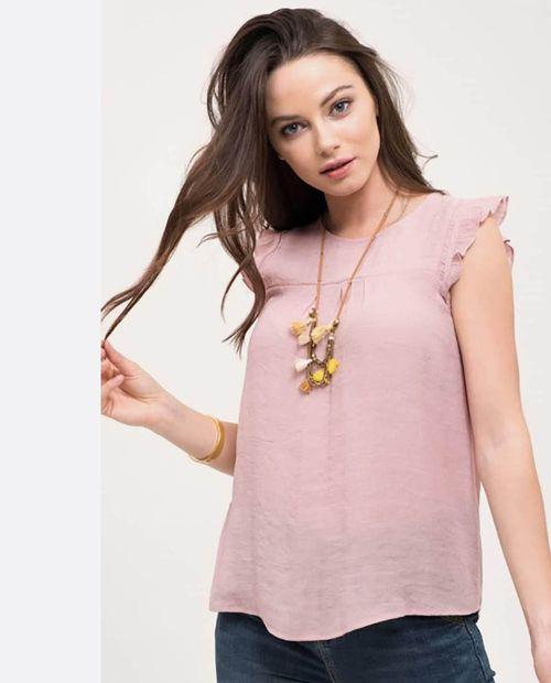 Blusa  dusty pink  solida sm fb