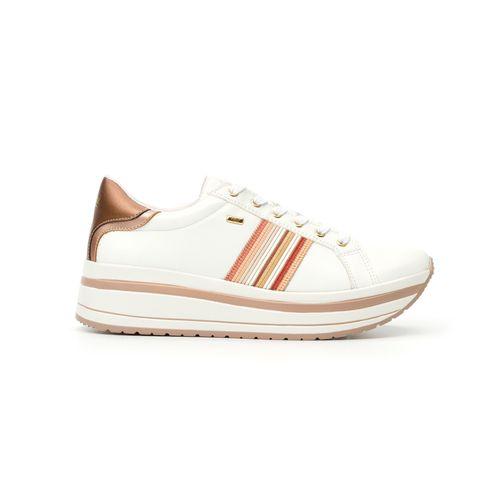 Calzado multicolor sneaker con cintas para dama